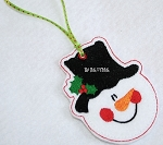 Snowman Face Felt Ornament Design
