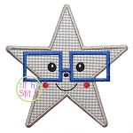 Star Glasses Boy Applique