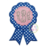 Award Ribbon Scallop Applique