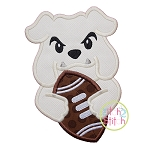 Bulldog Football Mascot Applique