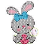 Bunny Girl Holding Egg 2 Applique