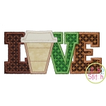 Coffee Love Applique