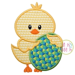 Chick Holding Egg Boy Applique