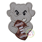 Elephant Football Mascot Applique