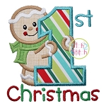 First Christmas Gingerbread Applique