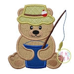 Fishing Bear 2 Applique