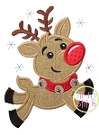 Flying Reindeer Applique