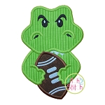 Gator Football Mascot Applique