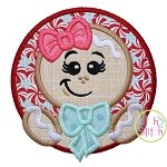 Gingerbread Girl Circle Applique