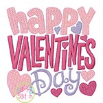 Happy Valentine's Day Embroidery