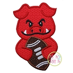 Hog Football Mascot Applique