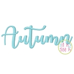Autumn Embroidery Font