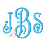 Carson Monogram Embroidery Font