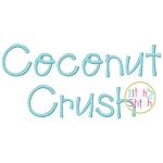 Coconut Crush Embroidery Font