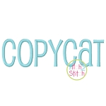 Copycat Embroidery Font