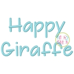 Happy Giraffe Embroidery Font
