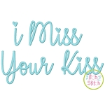 I Miss Your Kiss Embroidery Font