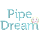 Pipe Dream Embroidery Font