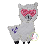 Llama Glasses Applique