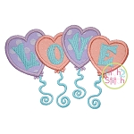 Love Balloons Applique