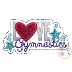 Love Gymnastics Applique