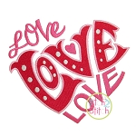 Love Heart Embroidery