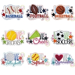 Love Sports Applique Set