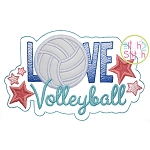 Love Volleyball Applique