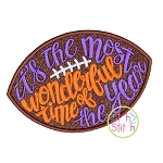 It's the Most Wonderful Time of The Year Football Applique