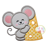 Mouse Hugs Cheese Applique