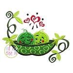 Peas in Pod Applique