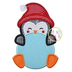 Penguin Peeker Boy Applique