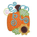 Pumpkin Sunflower Applique