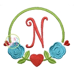 Rose Heart Frame Embroidery