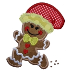 Running Gingerbread Girl Applique