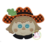 Scarecrow Face Boy Applique