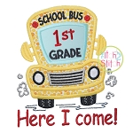 School Bus Grades 1st Applique
