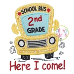 School Bus Grades 2nd Applique