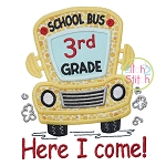 School Bus Grades 3rd Applique