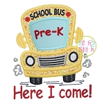 School Bus Grades Pre-K Applique