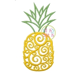 Scroll Pineapple Embroidery