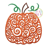 Scroll Pumpkin Embroidery