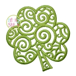 Scroll Shamrock Embroidery