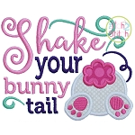 Shake Your Bunny Tail Applique