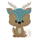 Sitting Deer Applique