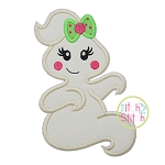 Sitting Ghost Girl Applique