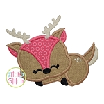 Sleeping Deer Applique