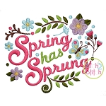 Spring Has Sprung Embroidery