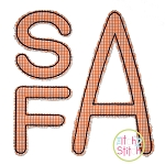 Stacked Sans Floss Applique Monogram Font
