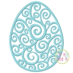 Swirl Egg Embroidery (Scroll Egg)